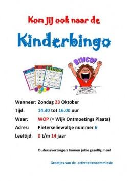 Kinderbingo 23 oktober 2016